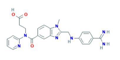Dabigatran - formula di struttura (fonte: PubChem)