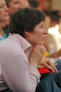 Woman listening to a teaching