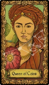 The Conspiracy Tarot: queen of coins
