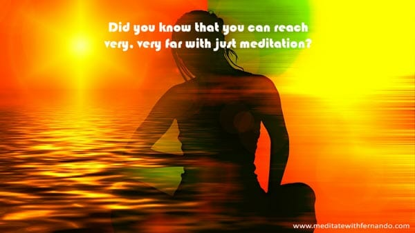 Meditation can take you very far without the need of Master Plants.