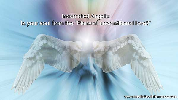 Incarnated angels bring love and healing.