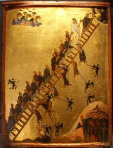 Icoana reprezentand Scara ascensiunii divine, se gaseste la manastirea Sfanta Ecaterina de la Muntele Sinai.