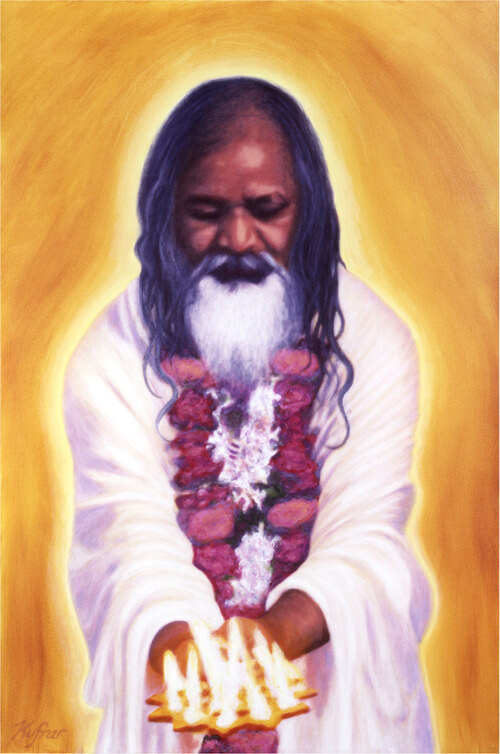 Maharishi Laksmi Puja oil on canvas by Christopher Kufner