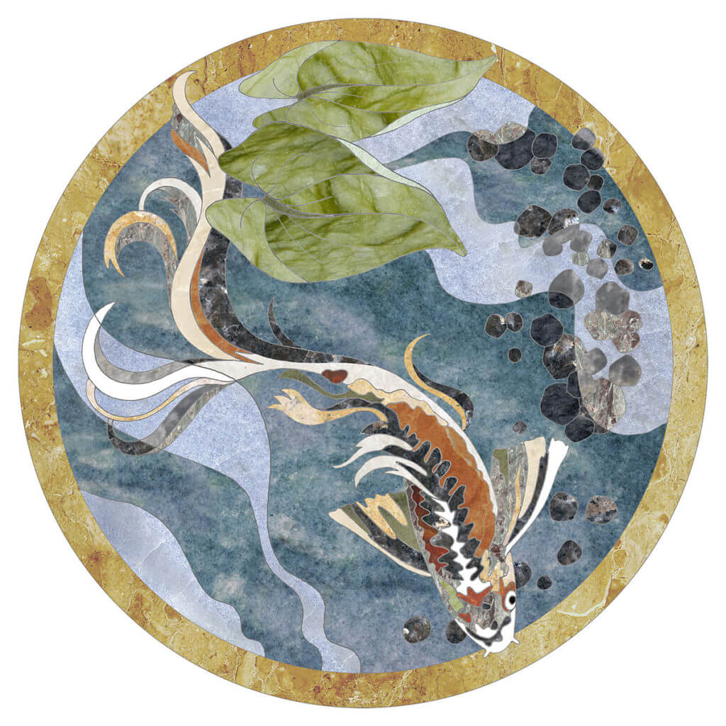 Koi Medallion from Special Commission Medallions Collection