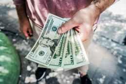 blur cash close up dollars