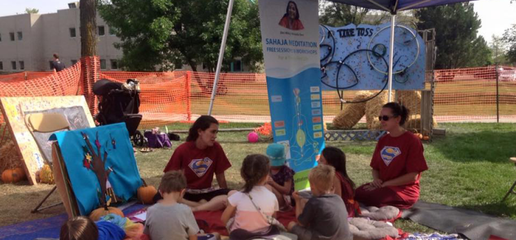 Meditating with kids at Fort Collins: Sustainable Living Fair