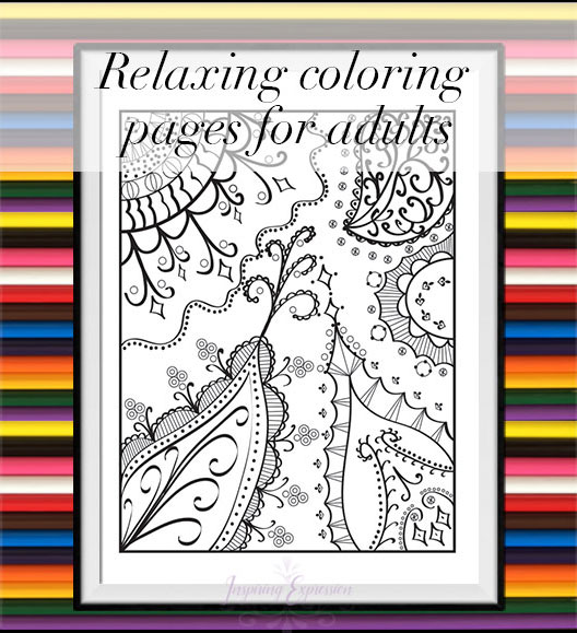 Whimsical paisley leaves coloring page