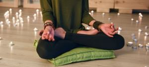 meditation cushions shop woman on top fo green meditation pillow
