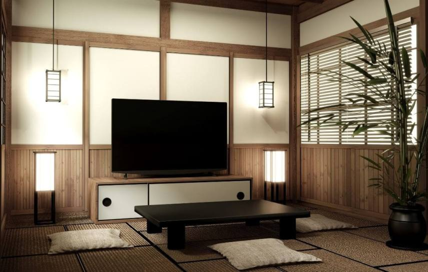 Zen Japanese table and floor pillows