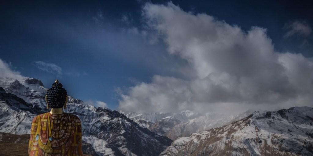 zen buddha mountain