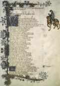 I Canterbury Tales da una replica del manoscritto Ellesmere, The Huntington Library, San Marino, California.
