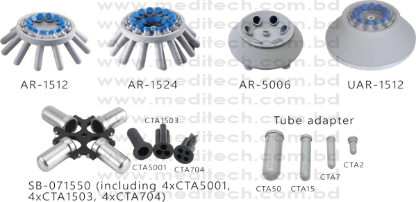 DSC-302SD, DSC-302SMD rotor and tube