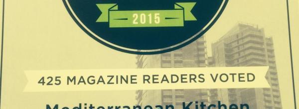 Mediterranean Kitchen Wins 425 Magazine Best of 2015