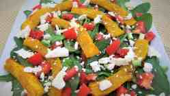 Roasted Pumpkin, Spinach and Feta Salad