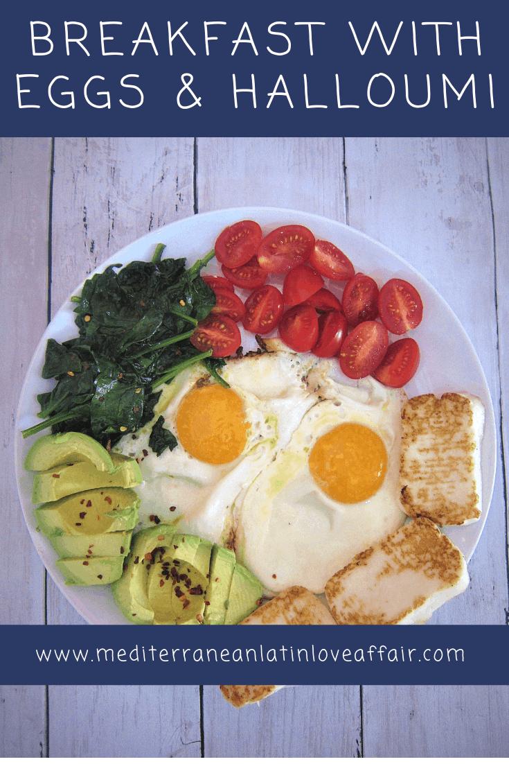 Eggs, Halloumi, Avocado Breakfast