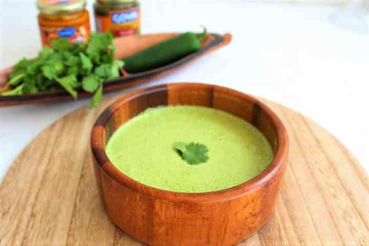 Peruvian Salsa Verde (green sauce) made with Huacatay paste
