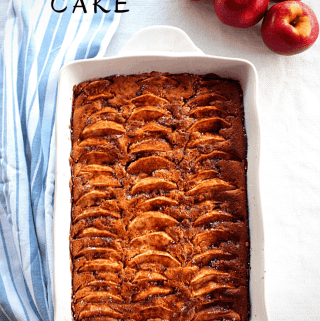 Apple, Walnuts, Honey Cake pictured with some fresh Apples on the side