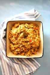 Rice with Pigeon Peas, Arroz con Glandules - a vegan recipe