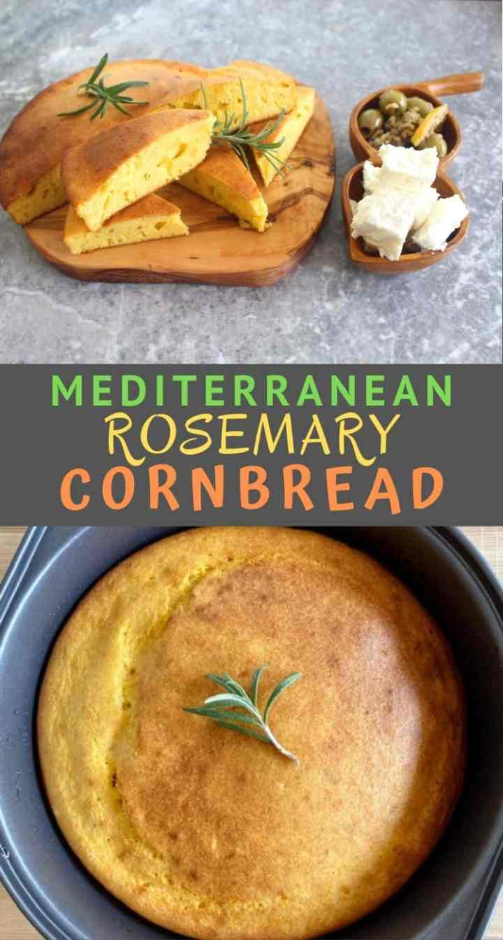 This Mediterranean Rosemary Cornbread is inspired by Albanian buke misri recipe. This cornbread tastes great toasted with feta cheese or to make Thanksgiving stuffing.