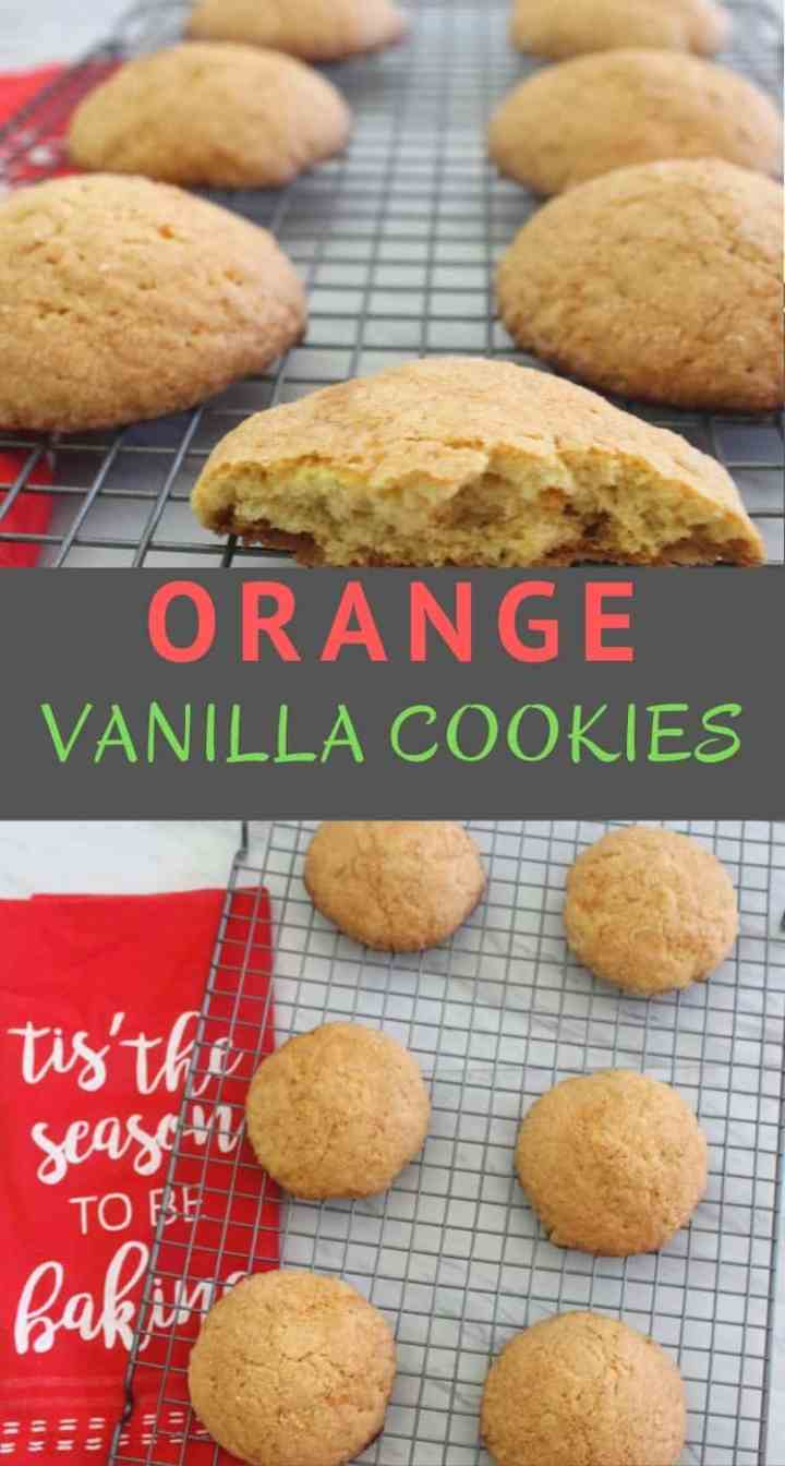 These homemade orange, vanilla cookies are so easy to make. The orange flavor makes these sugar cookies have that wow factor. These cookies are perfect holiday season cookies.