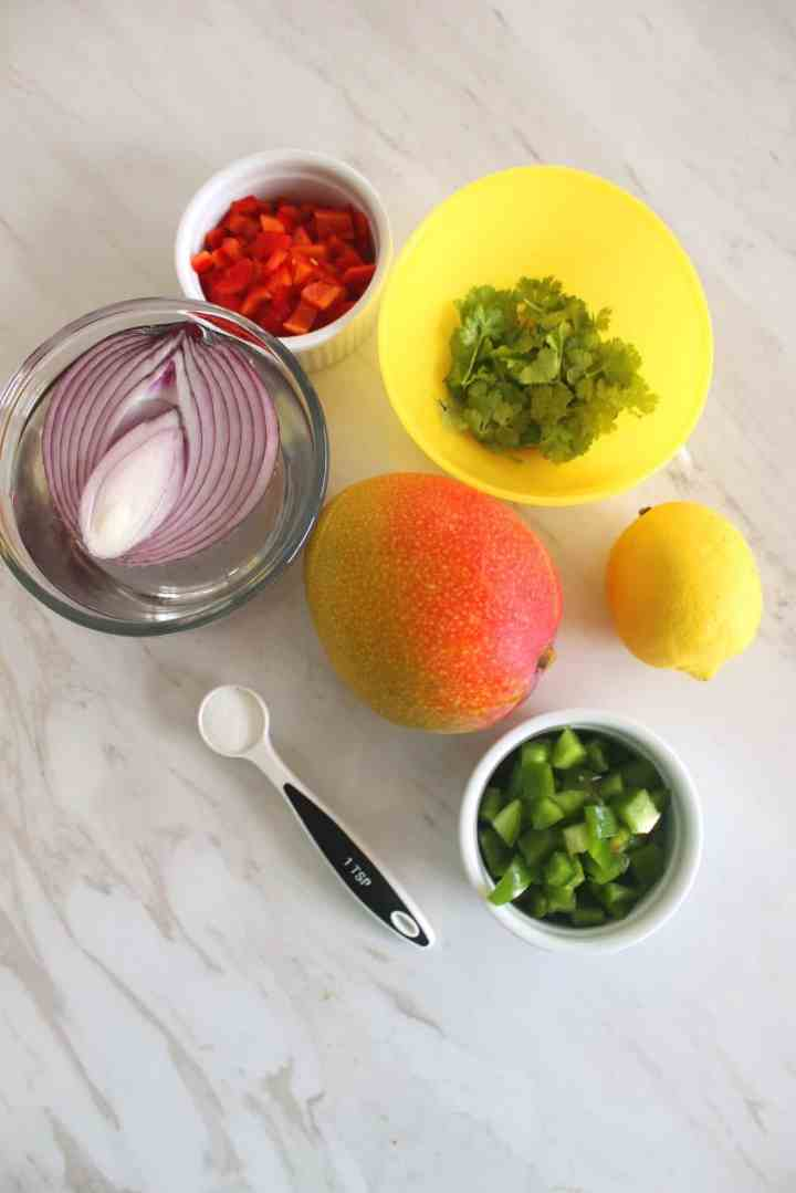 Ingredients for Mango Salsa