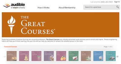 great courses audible