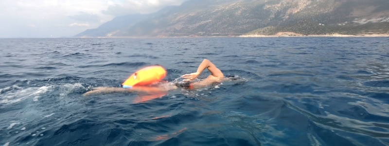 Distance Swimming in Kaş
