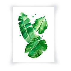 Banana Leaves Watercolor Print