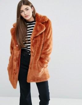 Faux Furry Coat