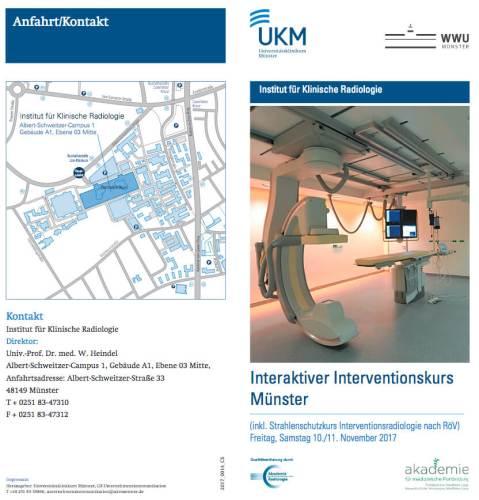 Radiologie: Interaktiver Interventionskurs Uniklinikum Münster