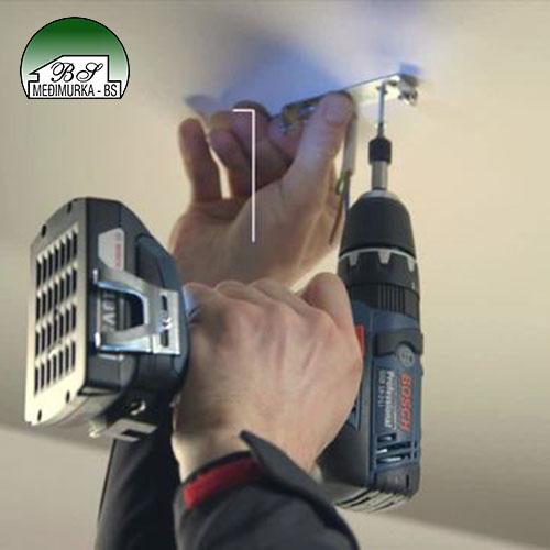 Korištenje akumulatorska udarna bušilica-izvijač GSB 14,4-2-LI Plus