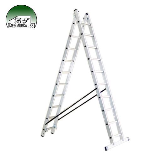 ALPOS dvodijelne aluminijske ljestve 40-06