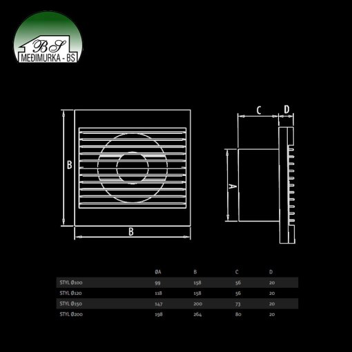 Styl - aksijalni ventilatori