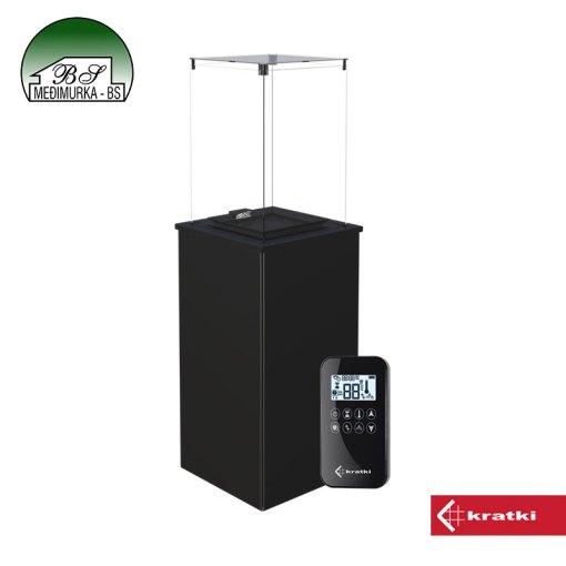 Plinski grijač PATIO MINI čelik s daljinskim upravljanjem
