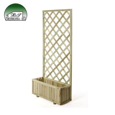 Drvena rešetka za penjačice s teglom srednja