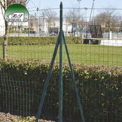 Plastificirani željezni podupirač stupova za ograde