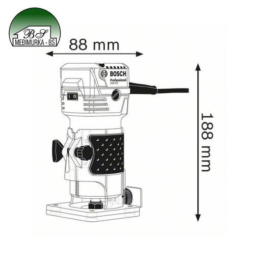 Glodalica rubova GKF 550 Professional BOSCH