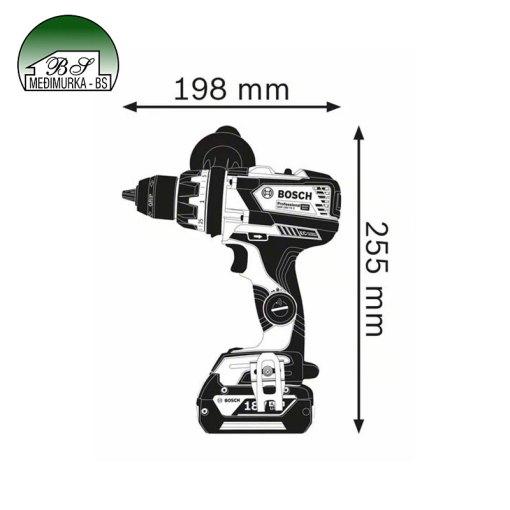 Akumulatorska bušilica-izvijač GSR 18V-110 C Professional BOSCH