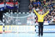 Photo of Marin Šego ,golman rukometne reprezentacije Hrvatske nakon povratka iz Francuske
