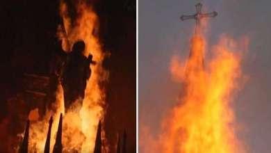 Photo of Ponovni antikatolički napadi i nasilje: Katolički svećenik napadnut u katedrali, izgorjela još jedna crkva