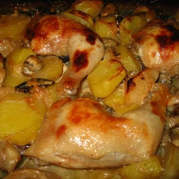 Piletina sa medom i voćem