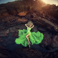 Beautiful Green by Margarita Kareva
