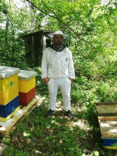 Pčelarska jakna ventilacijska sa duplom zaštitom od uboda (bluza / odijelo) bijelo -Ventilation blouse with double protection against bee sting (soft material )