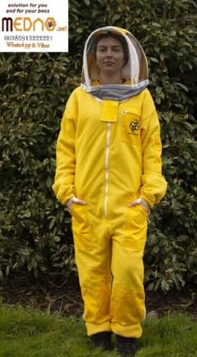 Pčelarsko odijelo 3D ventilacijsko sa duplom zaštitom od uboda (kombinezon / odijelo) bijelo -Ventilation blouse with double protection against bee sting (soft material )