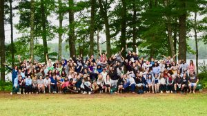 all of camp medolark staff in one picture