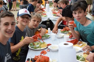 Lobster dinner with friends