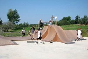 campers skateboarding