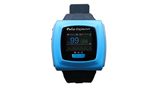 1-Wrist-SpO2-Pulse-Oximeter-Oxygen-Monitor-with-Colored-OLED-Graphic-Display-SnugFit-probe-Built-in-Alarms-for-SpO2-and-Pulse-Rate-Built-in-Memory-for-up-to-24hrs-of-Data-Storage-256k-color-OLED-displ-0-1