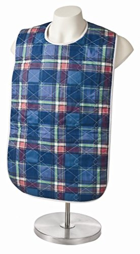 6-Pack-Adult-Bib-or-Clothing-Protector-Reusable-Washable-18×34-Blue-Plaid-0