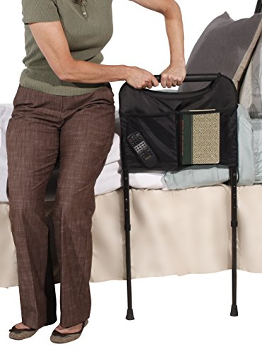 Able-Life-Bedside-Home-Sturdy-Bed-Rail-Cushioned-Support-Handle-Includes-Organizer-Pouch-Adjstable-Legs-That-Extend-to-the-Floor-0